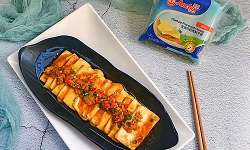 快手创意营养脆嫩芝士豆腐#安佳幸福家常菜#的做法