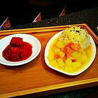 咖喱土豆火腿浇饭