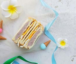 #带着美食去踏青#芋泥鸡蛋三明治的做法