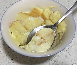 蛋奶吐司蒸(微波炉做法)的做法