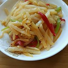 双椒炒冷薯