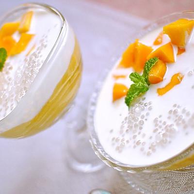 夏日清爽甜品芒果椰浆西米捞