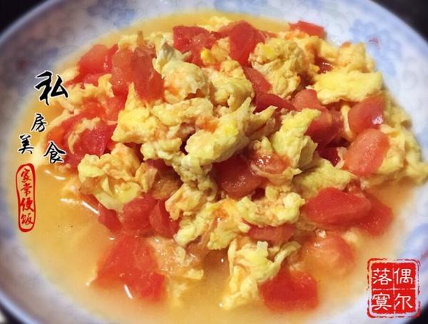 鸡蛋炒柿子的做法