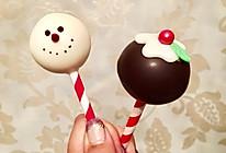 圣诞雪人棒棒糖蛋糕的做法