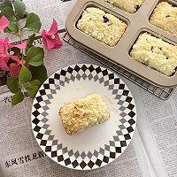 金顶酥粒蓝莓巧克力马芬蛋糕