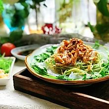 #春天肉菜这样吃#凉拌鸡丝黄瓜粉皮