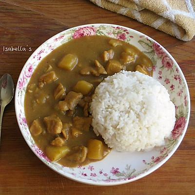 咖喱鸡肉饭