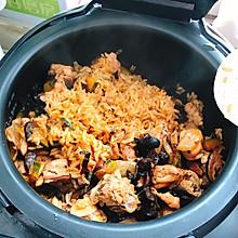 南瓜香菇鸡焖饭