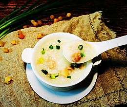 #换着花样吃早餐#瑶柱(干贝)瘦肉粥的做法