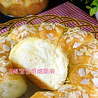 超松软的杏仁片牛奶面包#松下烘焙魔法世界#的做法图解10