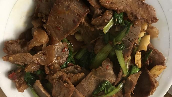 青菜烧牛肉