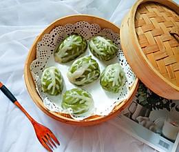 可爱白菜造型鲜奶青团的做法