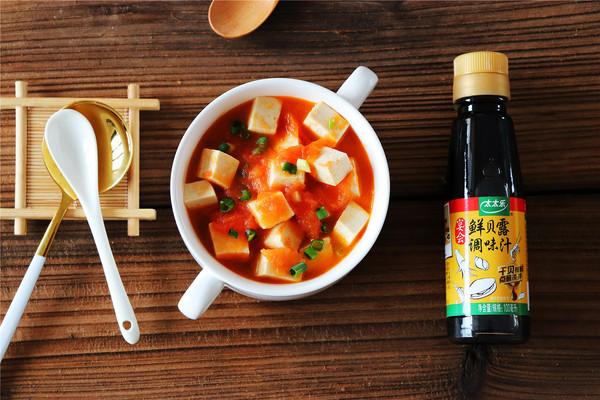 鲜贝露春日尝鲜+西红柿豆腐汤的做法