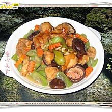 丝瓜.香菇烧面筋——看奥运.学粤菜