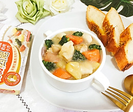 奶炖鲜蔬口蘑银鳕鱼 简单好做快手西餐#手残党VS西餐大厨#