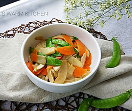 家常小炒:荷兰豆炒杏鲍菇的做法