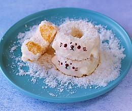 海豹甜甜圈(无水海绵蛋糕胚,巧克力淋面)的做法