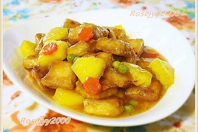 菠萝甜酸豆腐