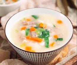 山药滑牛面疙瘩汤的做法