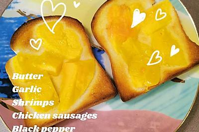 黄油木瓜烤吐司