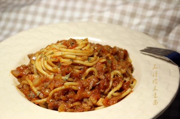 茄汁肉末意粉意面的做法