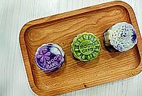 奶黄紫薯冰皮月饼#手作月饼#的做法