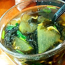 减肥餐~紫菜虾皮冬瓜汤