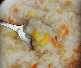 宝宝辅食——干贝虾米蔬菜粥的做法