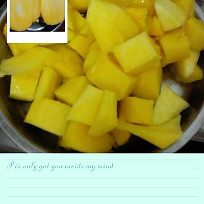 鲜芒果切块的做法 步骤3