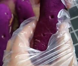 仿紫薯面包~网红面包的做法