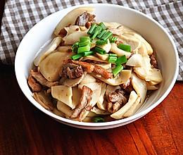 肉丝炒杏鲍菇的做法