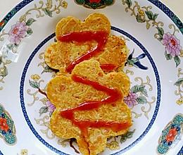 宝宝早餐之胡萝卜火腿鸡蛋饼的做法