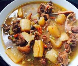 白萝卜鸭子汤的做法