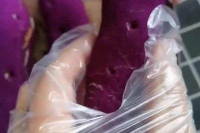 仿紫薯面包~网红面包