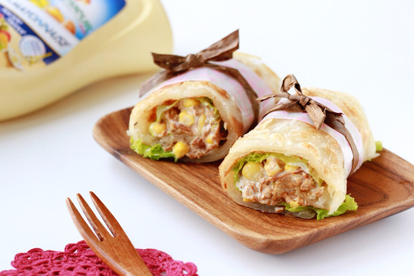 金枪鱼玉米粒手抓饼 快手早餐#法国乐禧瑞,百年调味之巅#的做法