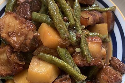 排骨土豆炖豆角