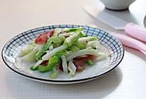 奈瓷芽儿菜炒腊肠的做法