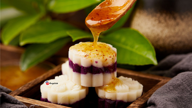 养生小点紫薯山药糕的做法