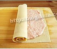 东北熏干豆腐肉卷的做法图解3