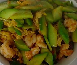 黄瓜鸡蛋炒虾仁的做法