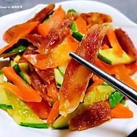 #元宵节美食大赏#黄瓜胡萝卜炒腊肠的做法图解12