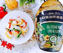#新春美味菜肴#五彩炒年糕的做法