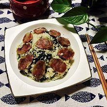 香肠菜饭--电饭锅版