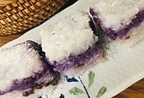 口感软糯.糯米紫薯红豆糕的做法