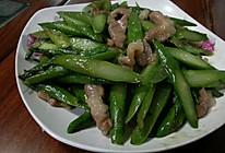 当季时蔬--芦笋炒肉片的做法