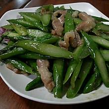 当季时蔬--芦笋炒肉片