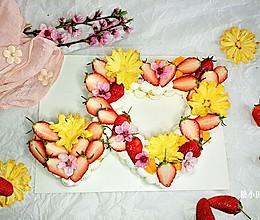 #馅儿料美食,哪种最好吃#花样心相印蛋糕的做法