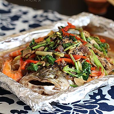 蔬菜烤鱼虾