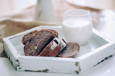紫米全麦核桃提子干软欧面包