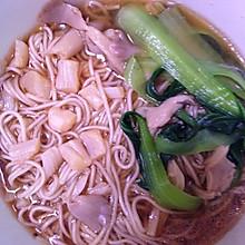 干贝蘑菇青菜麻油面